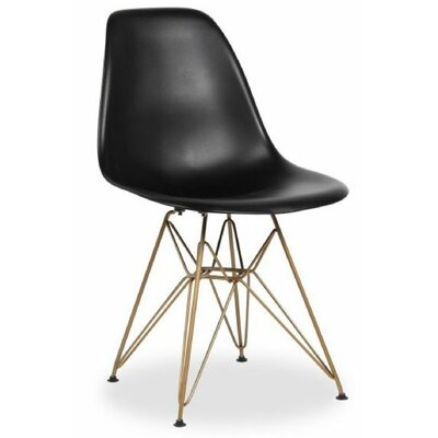 Wilborn Eiffel Side Chair Finish: Gold/Black