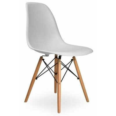 Coatesville Dining Chair Seat Color: Light Gray, Leg Color: Natural Wood