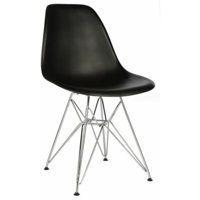 Wilborn Eiffel Side Chair Finish: Chrome/Black