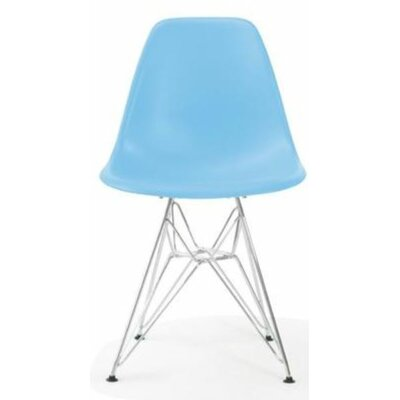 Wilborn Eiffel Side Chair Finish: Chrome/Baby Blue