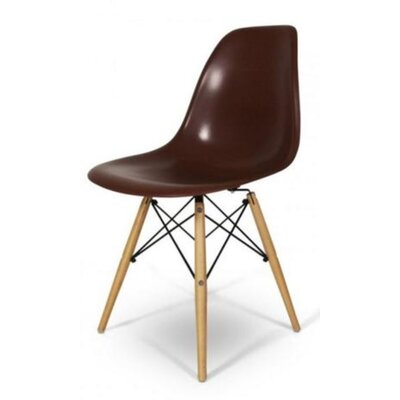 Coatesville Dining Chair Seat Color: Brown, Leg Color: Natural Wood
