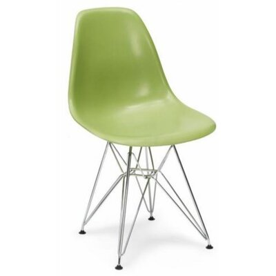 Wilborn Eiffel Side Chair Finish: Chrome/Green