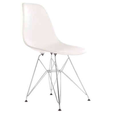 Wilborn Eiffel Side Chair Finish: Chrome/White