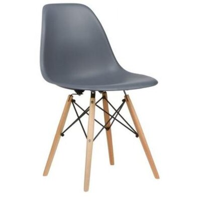 Coatesville Dining Chair Seat Color: Gray, Leg Color: Natural Wood