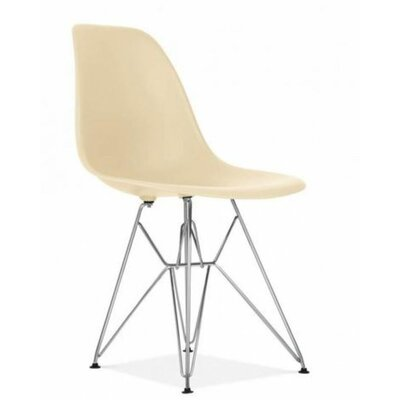 Wilborn Eiffel Side Chair Finish: Chrome/Cream