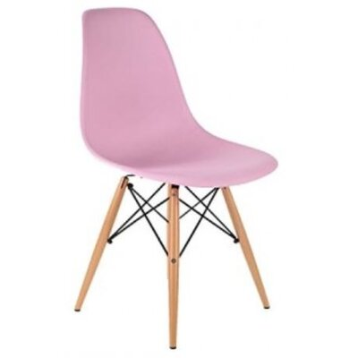 Coatesville Dining Chair Seat Color: Light Pink, Leg Color: Natural Wood