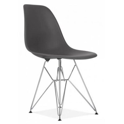 Wilborn Eiffel Side Chair Finish: Chrome/Dark Gray
