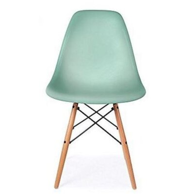 Coatesville Dining Chair Seat Color: Mint, Leg Color: Natural Wood