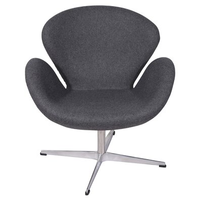 Ginnifer Swam Armchair Upholstery: Gray