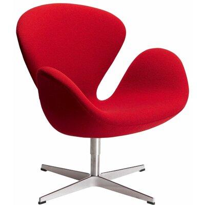Ginnifer Swam Armchair Upholstery: Red