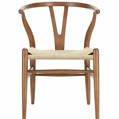 Housley Woodcord Solid Wood Dining Chair Finish: Walnut
