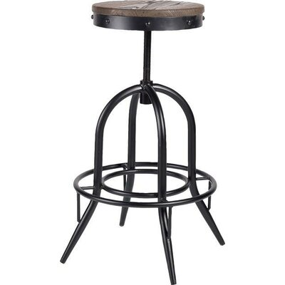 Critchlow Adjustable Height Swivel Bar Stool