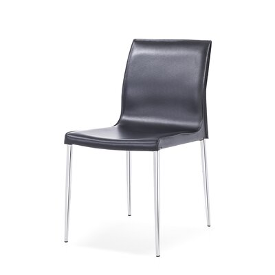 Sowder Modern Upholstered Dining Chair Upholstery Color: Black