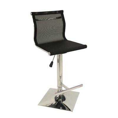 Hyden Adjustable Height Swivel Bar Stool Color: Black