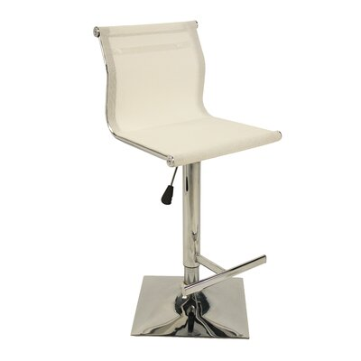 Hyden Adjustable Height Swivel Bar Stool Color: White
