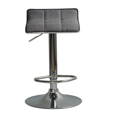 Hurwitz Back Adjustable Height Swivel Bar Stool
