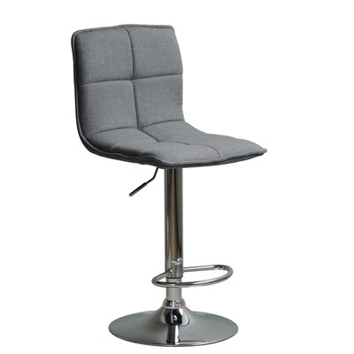 Huseman Adjustable Height Swivel Bar Stool