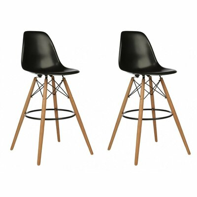 Humes 26.4 Bar Stool Color: Black