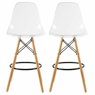 Humes 26.4 Bar Stool Color: Clear