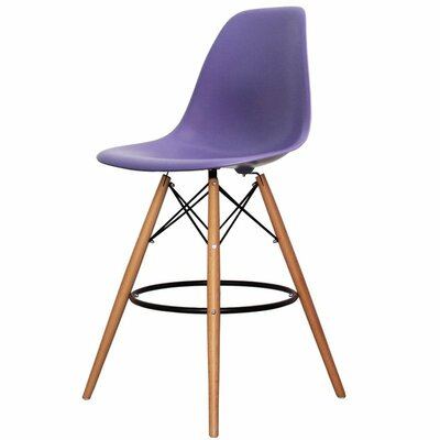 Humes 26.4 Bar Stool Color: Purple