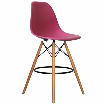 Humes 26.4 Bar Stool Color: Pink