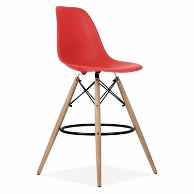 Humes 26.4 Bar Stool Color: Red