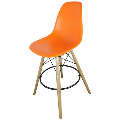 Humes 26.4 Bar Stool Color: Orange