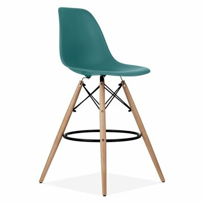 Humes 26.4 Bar Stool Color: Teal