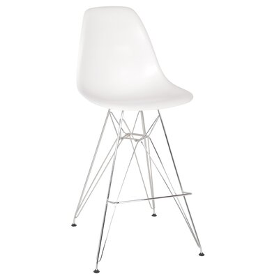 Jamarcus 27 Bar Stool Color: White