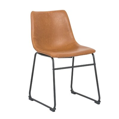Cladeus Vintage Upholstered Dining Chair Color: Tan