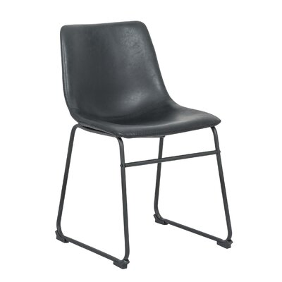 Cladeus Vintage Upholstered Dining Chair Color: Black