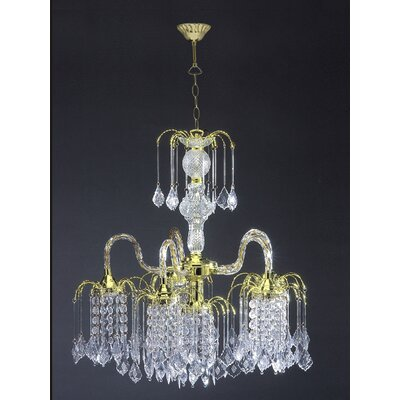 Emilee Floating 6-Light Crystal Chandelier
