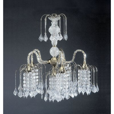 6-Light Crystal Chandelier Finish: Bronze
