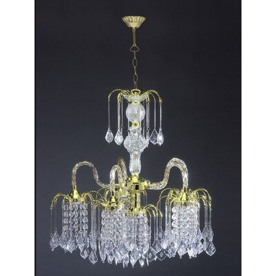 6-Light Crystal Chandelier Finish: Gold