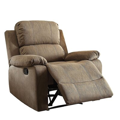 Olivet Manual Recliner Upholstery: Tan