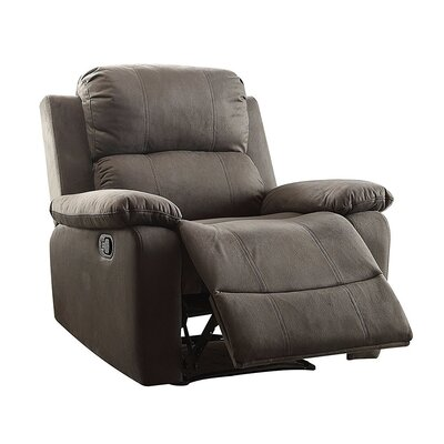 Olivet Manual Recliner Upholstery: Chocolate