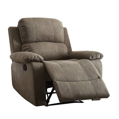 Olivet Manual Recliner Upholstery: Gray