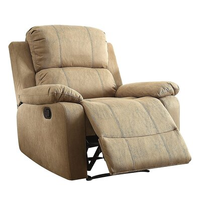 Olivet Manual Recliner Upholstery: Brown