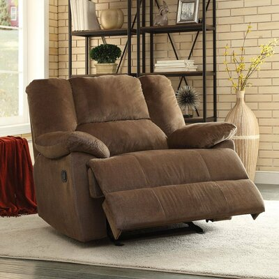 Omaha Over-sized Manual Glider Recliner Upholstery: Chocolate