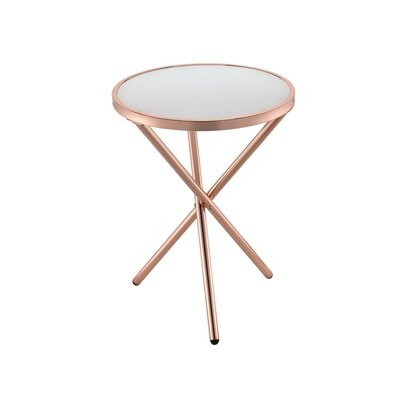 Klinger Modern Round Metal End Table Color: Copper