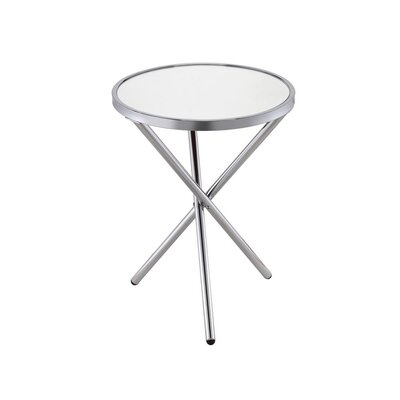 Klinger Modern Round Metal End Table Color: Chrome