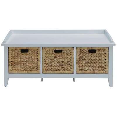 Brekke Wood Storage Bench Color: White