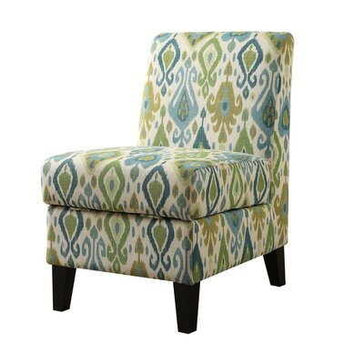 Pieper Living Room Slipper Chair with Hidden Storage Upholstery: Green