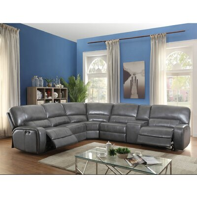 Kinsella Motion Reclining Sectional Upholstery: Gray