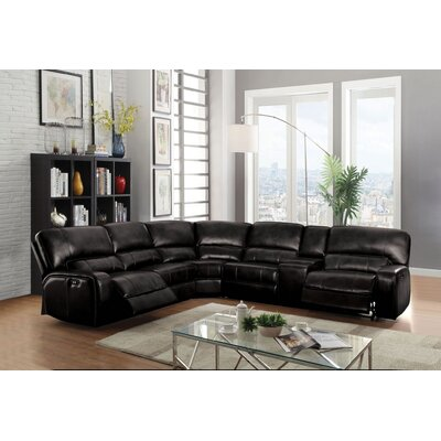 Kinsella Motion Reclining Sectional Upholstery: Brown