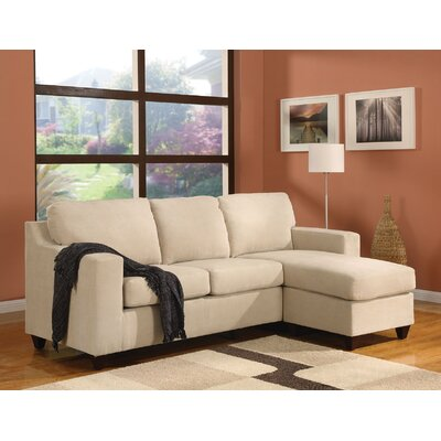 Weisinger Microfiber Reversible Chaise Sectional Upholstery: Beige, Orientation: Right Hand Facing