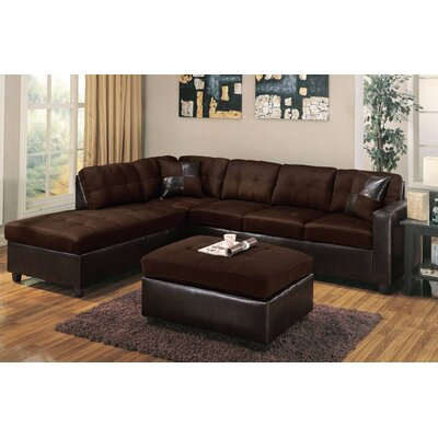 Charters Towers Modular Sectional with Ottoman Upholstery: Chocolate