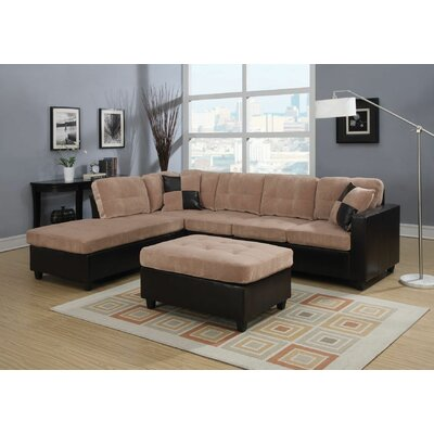 Charters Towers Modular Sectional with Ottoman Upholstery: Light Brown