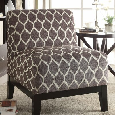 Gess Fabric Slipper Chair Upholstery: Brown