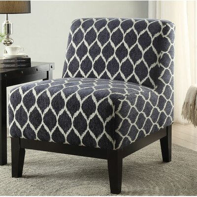 Gess Fabric Slipper Chair Upholstery: Dark Blue